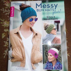 Crochet Messy Bun Hat Pattern Book